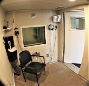Roseville Diagnostic Hearing Center hearing test booth