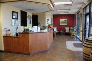Roseville Diagnostic Hearing Center reception desk