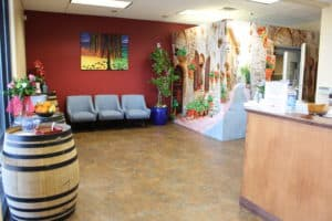 Roseville Diagnostic Hearing Center office lobby